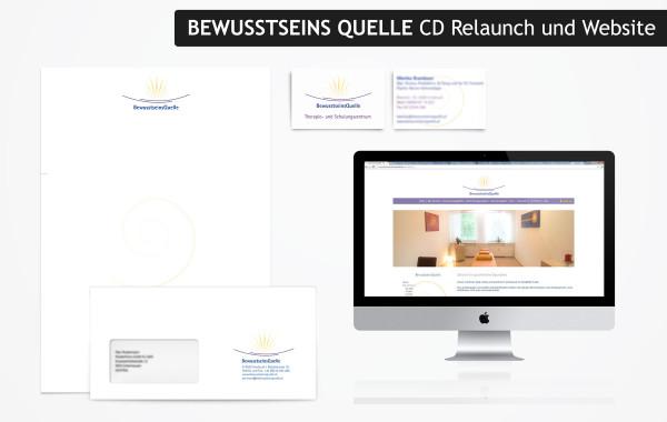 BewusstseinsQuelle – Logodesign Relaunch