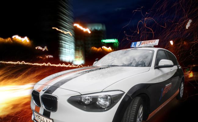 BMW Design Autobeklebung Fahrschule Jaufer