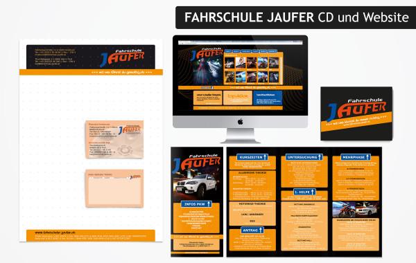 Fahrschule Jaufer – Corporate Design
