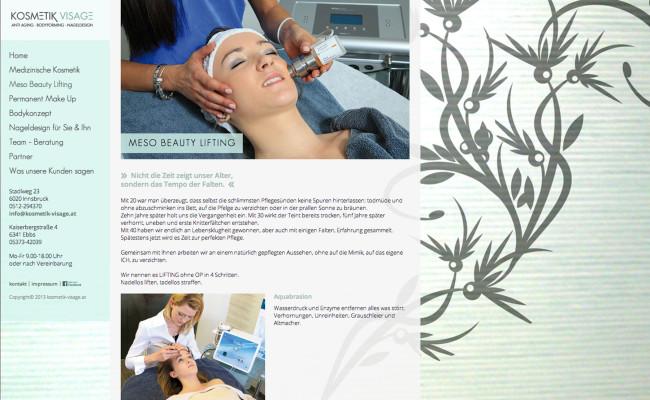 werbeagentur-tirol-kosmeik_visage-website-design-unterseite1