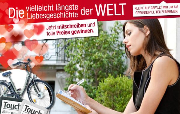 Kunde Tyrolia Gewinnspiel längste Liebesgeschichte der Welt