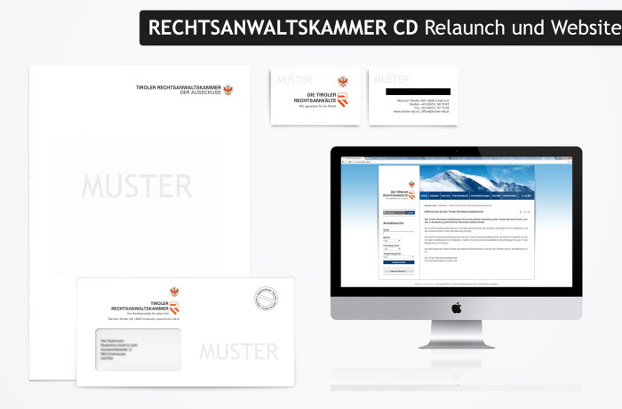 Tiroler Rechtsanwaltskammer – Corporate Design