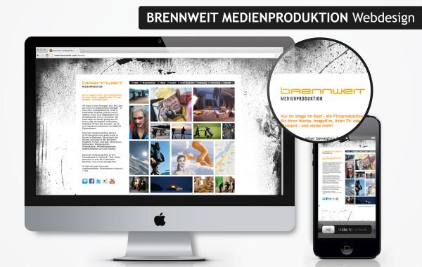 Brennweit Medien Produktion – Webdesign